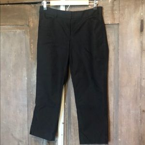 WHBM perfect form black ankle pants